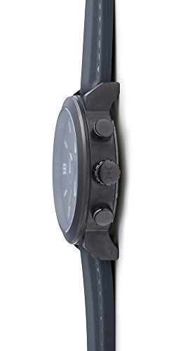aimant reloj para hombre maui gun metal con correa de silico