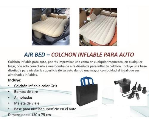 air bed colchón inflable beige p/auto 35x86.4x10cm c/envío