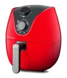 air fryer fritadeira elétrica s/ óleo vermelha 4l 1500w 127v