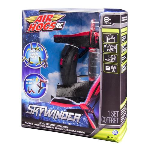 air hogs cohete volador - rc skywinder - stunt rocket red