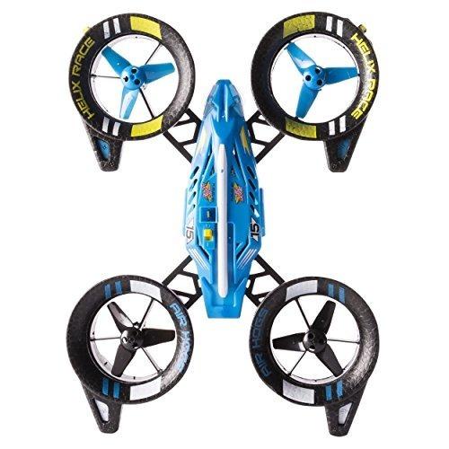 air hogs, helix race drone, 2.4 ghz, vehículo rc azul