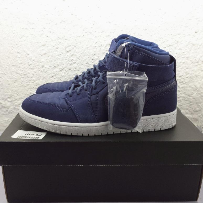 Air Jordan 1 High Strap Midnight Navy (nuevos En Caja Numero ... c03bbc924