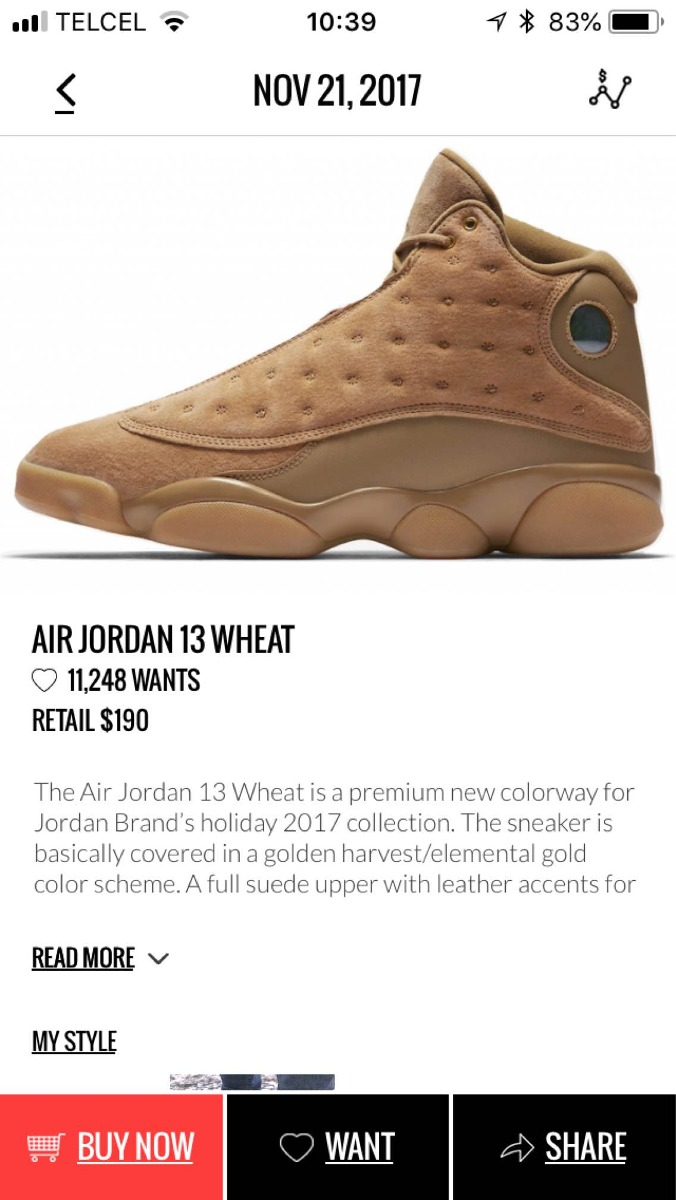 save off 5aaf1 c3735 air jordan 13 wheat. Cargando zoom.