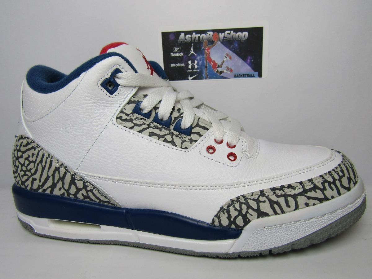 new style 1091e 53682 Air Jordan 3 True Blue Edition Kids (24.5 Mex) Astroboyshop