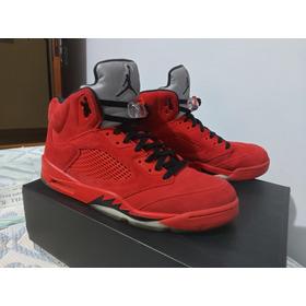 Air Jordan 5  ''red Suede''