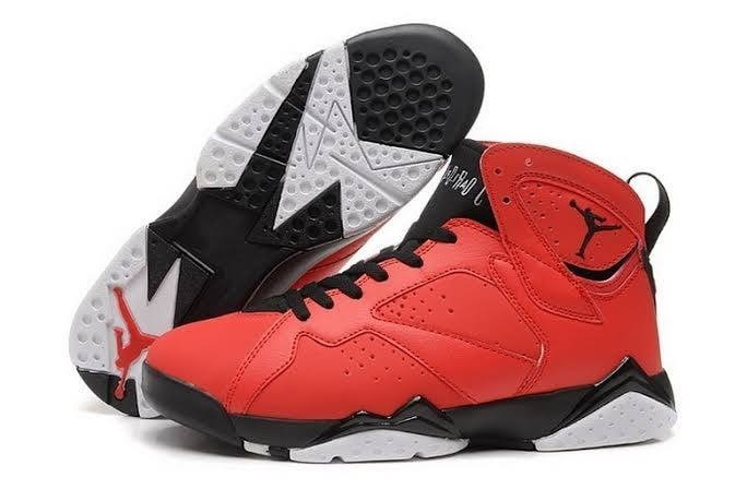 sports shoes 55252 3e642 Air Jordan 7 Red And Black