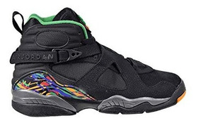 Air Jordan 8 Retro Bg Big Kids Zapatos Negro Gimnasio Rojo