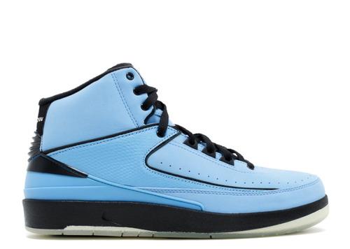 air jordan ii retro blue & black