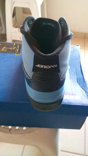 air jordan ii retro university blue & black
