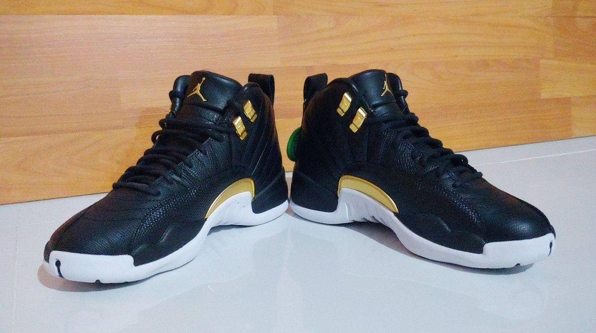 reputable site 364d4 94df2 Air Jordan Retro 12 Black Metallic Gold White