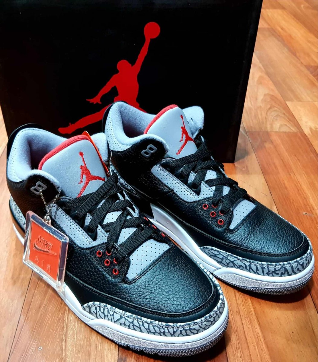 reputable site 7fdaa d5f0c Air Jordan Retro 3 Black Cement Og Original