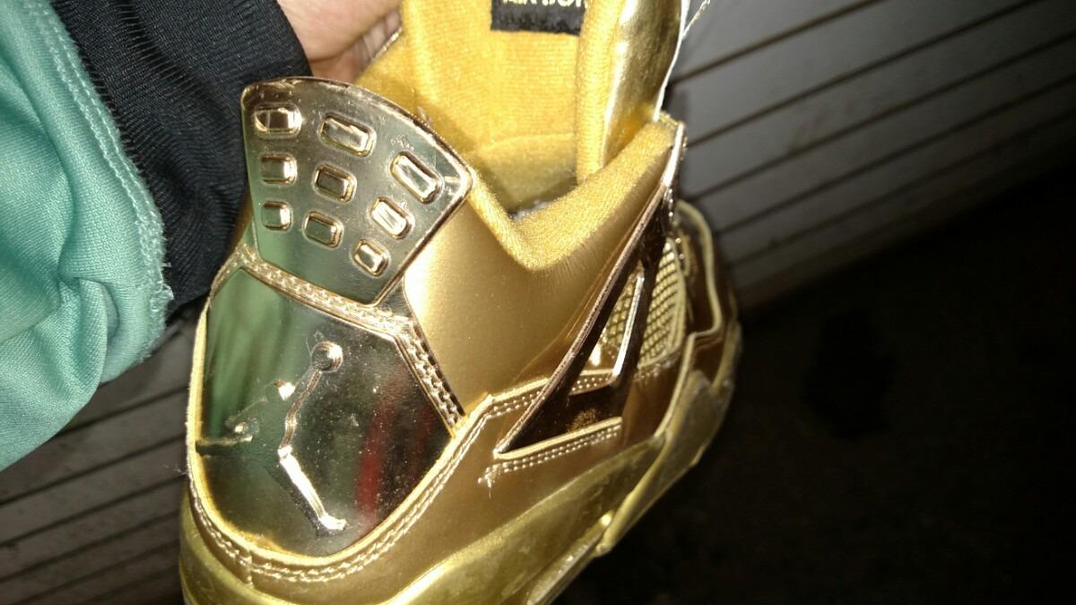 wholesale dealer 9c1d6 429a6 sweden jordan retro 4 guld f9822 c2747
