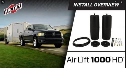 air lift hd mayor capacidad carga dodge ram 1500 5.7 hemi hasta 1200kg *** factura a *** chilliparts ***