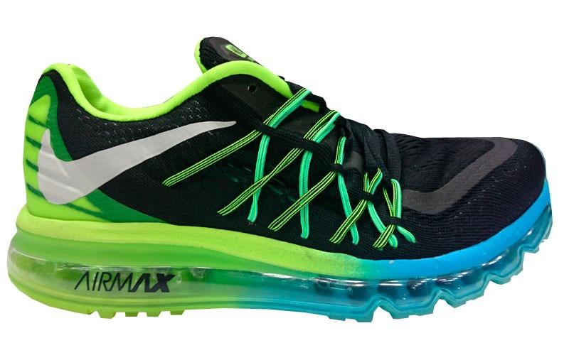 air max 2015 azul e verde