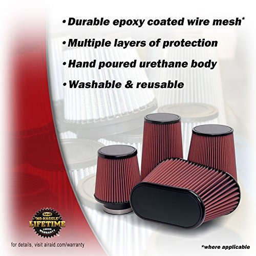 airaid 700-498 universal clamp- en aire filtro: ronda cónic