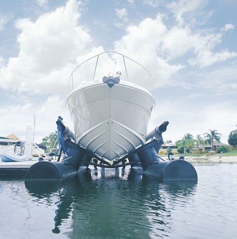 airberth, sistema de almacenaje elevado para barcos