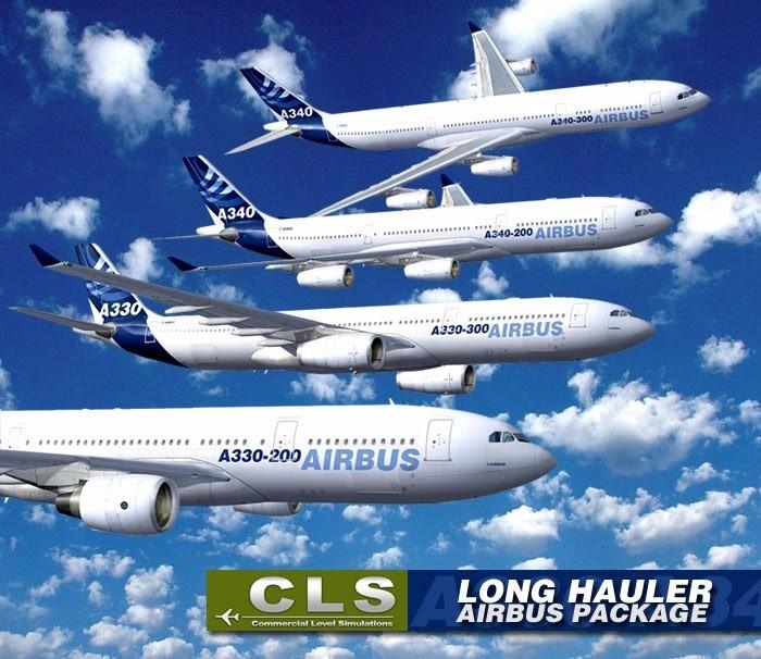 Airbus A330-200/a330-300/a340-200/a340-300/ Boeing 737 Fsx