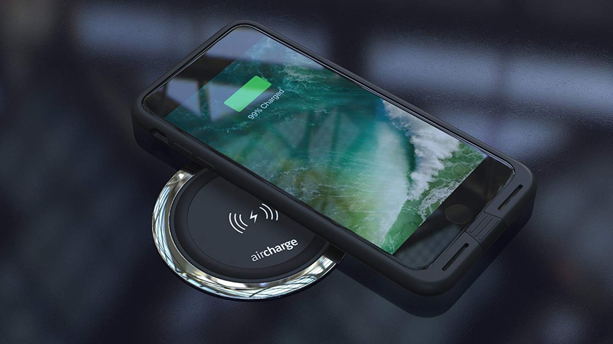premium selection c0ae4 db301 Aircharge Wireless Charging Funda Para Apple iPhone 7-plus -