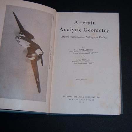 aircraft analytic geometry. j j apatalegui. l j adams. 1944