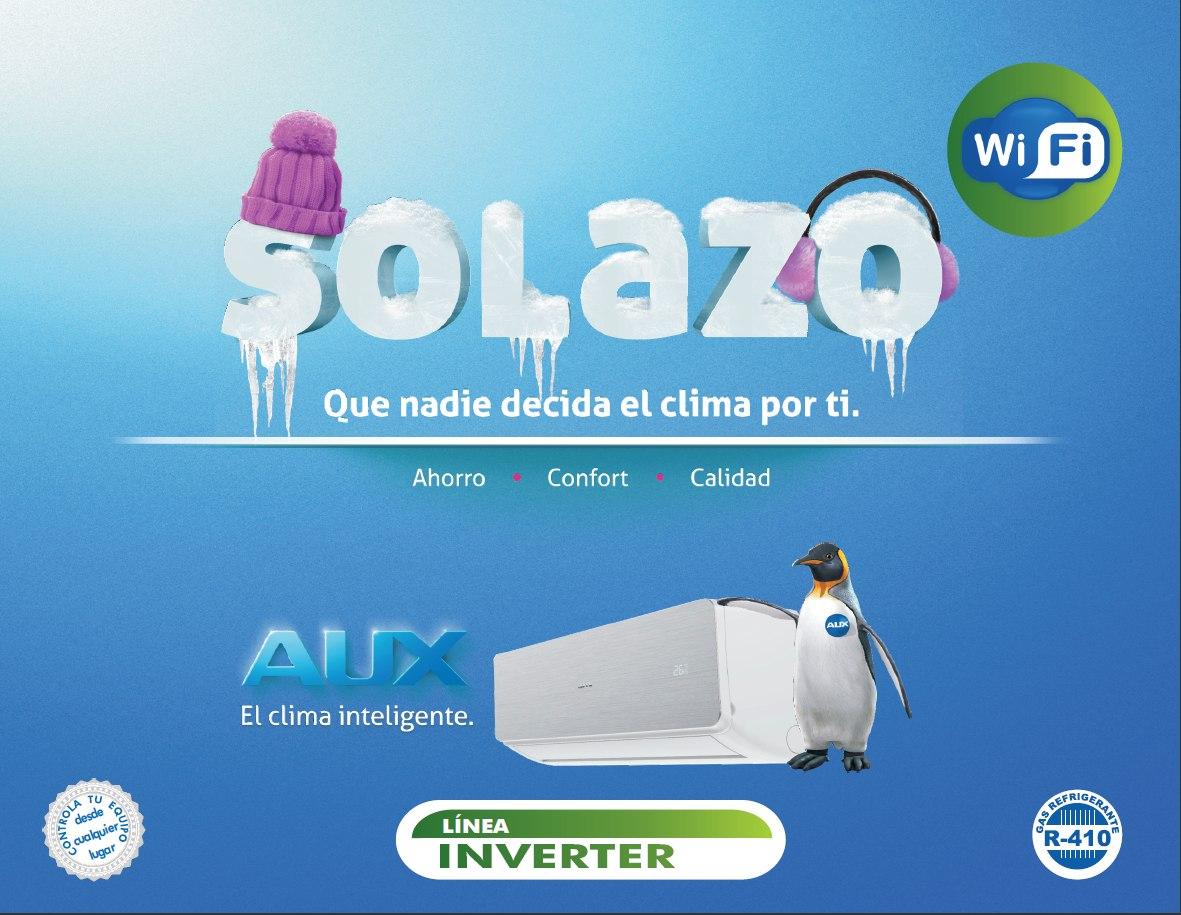 Aire Acond Minisplit Aux Inverter Wifi 1 Ton 16 Seer R410a