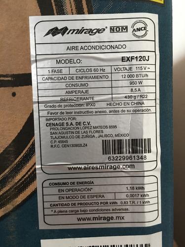 aire acond. minisplit mirage x3 1 tonelada 110v envio gratis