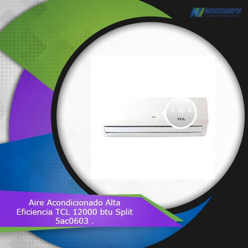 aire acondicionado alta eficiencia tcl 12000btu split