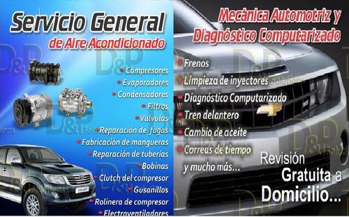 aire acondicionado automotriz evaporador-recarga de gas