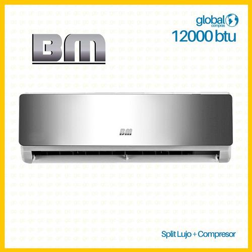 aire acondicionado bm 12000 btu split de lujo