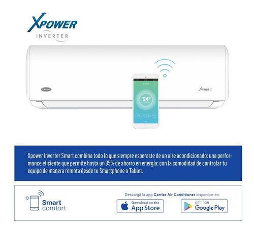 aire acondicionado carrier inverter 3550w 3050kcal/h frio calor