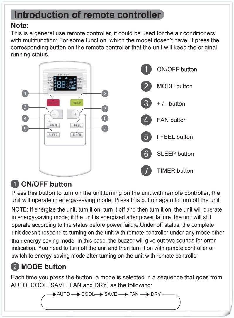 Control Remoto Trane Minisplit Aire Acondicionado Yx1f