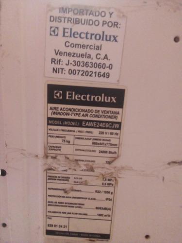 aire acondicionado de ventana electrolux 24mil btu, 220v