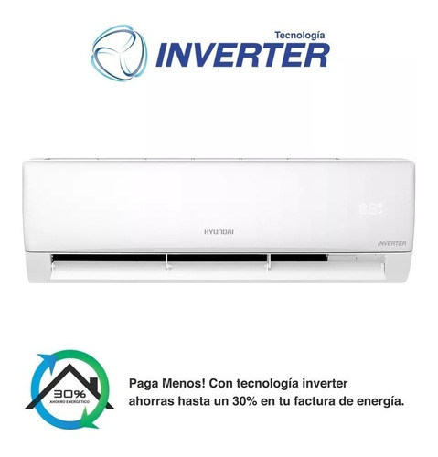 aire acondicionado frío calor inverter 3400 watts hyundai