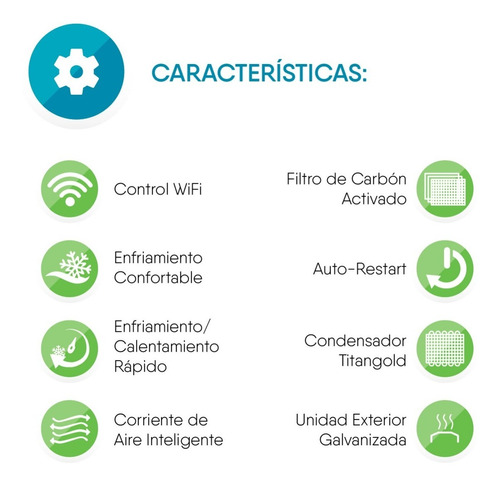 aire acondicionado greenwind inverter 12000 btu wifi