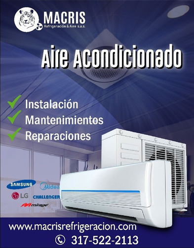 aire acondicionado + instalación a crédito