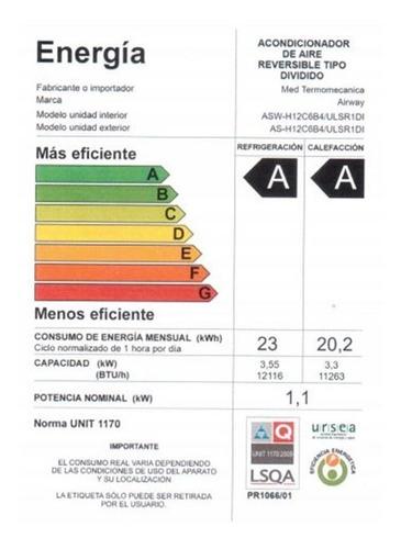 aire acondicionado inverter 12000 btu asw-h12c6b4/ulsr1