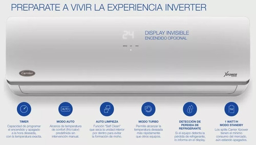 aire acondicionado inverter carrier xpower 3050 f/c wifi