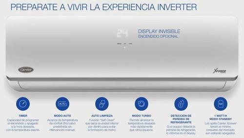 aire acondicionado inverter carrier xpower 4500f wifi f/c