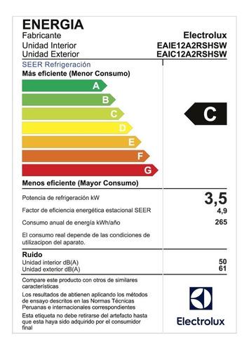 aire acondicionado inverter electrolux eaix12a2rshsw