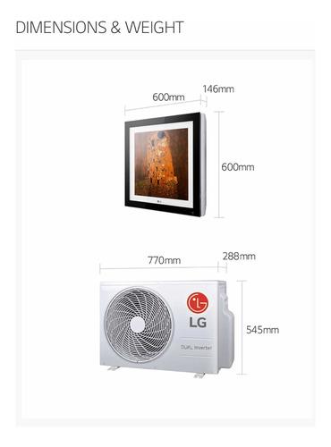 aire acondicionado lg art cool (tipo cuadro) 1.5 ton