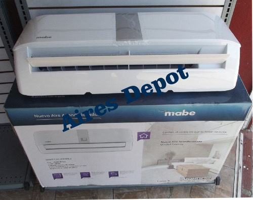 aire acondicionado mabe blanco con display  frío 220 v 1 ton