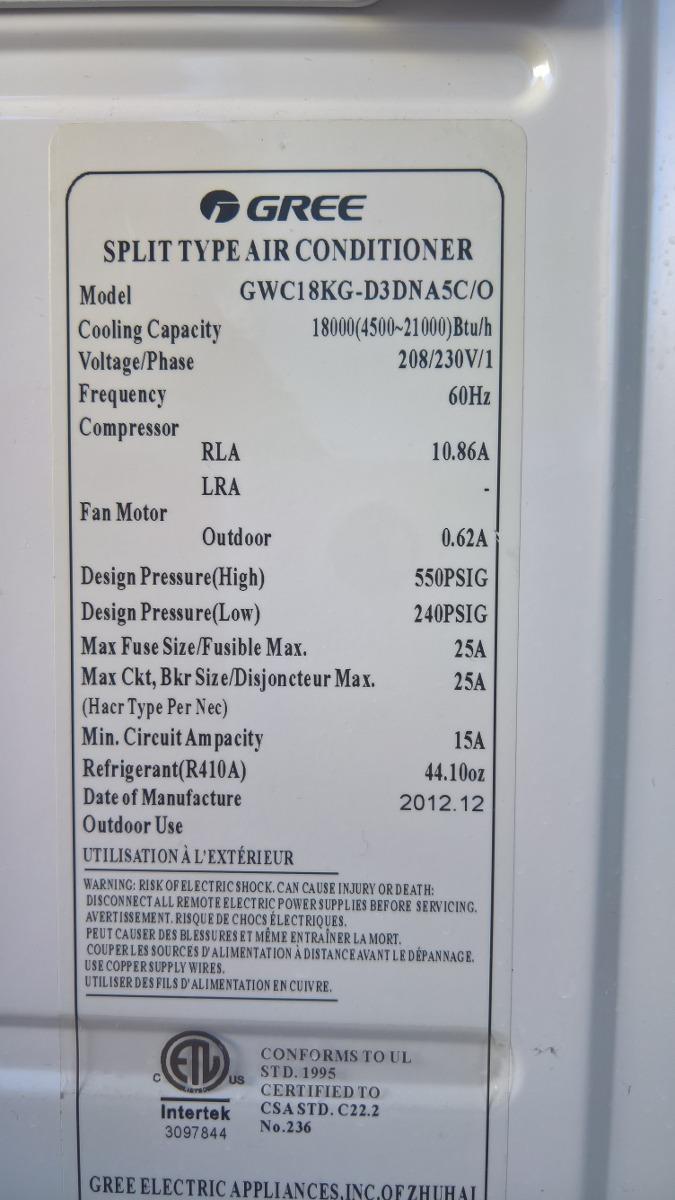 Aire Acondicionado Minisplit Inverter Gree 18 000 Btus