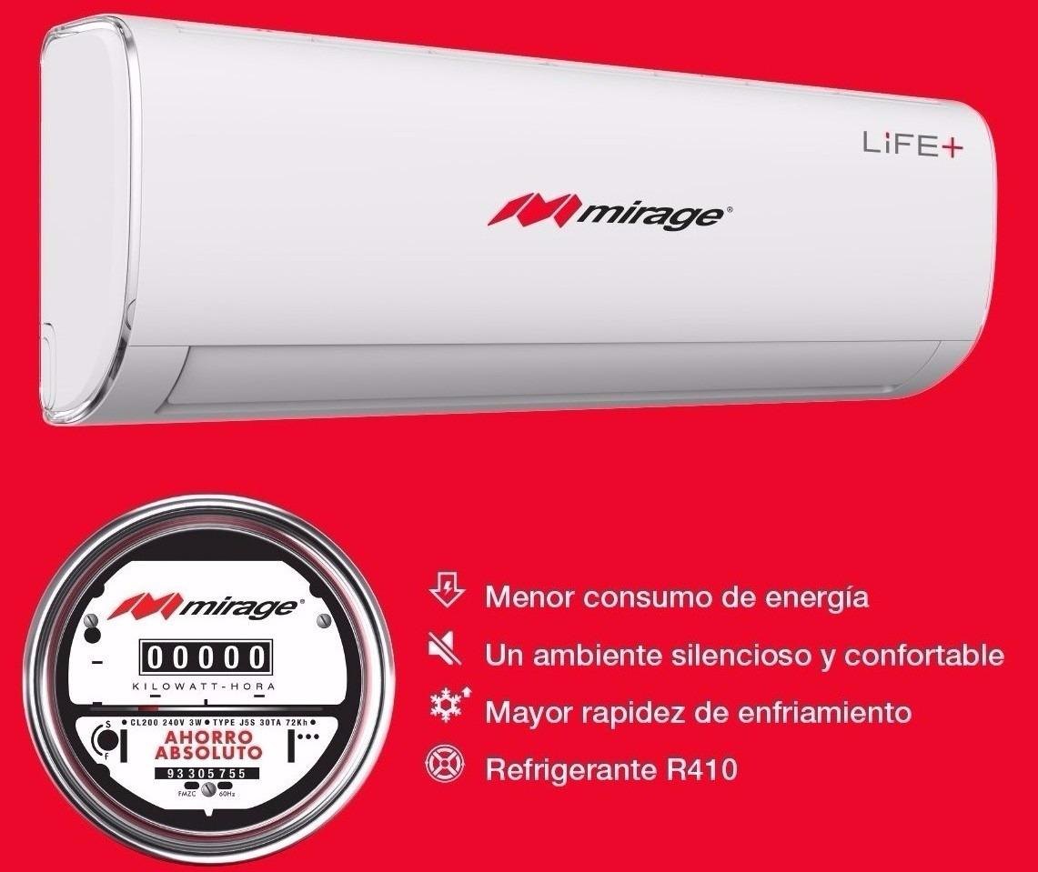 Aire Acondicionado Mirage Life R410a Solo Frio 110v 1ton