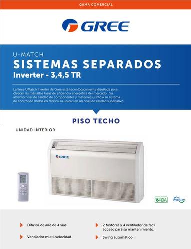 aire acondicionado piso techo 9000 fr gree f/c 3tn inverter