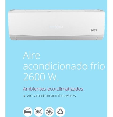aire acondicionado sanyo kc918csan split sólo frío 2600 w