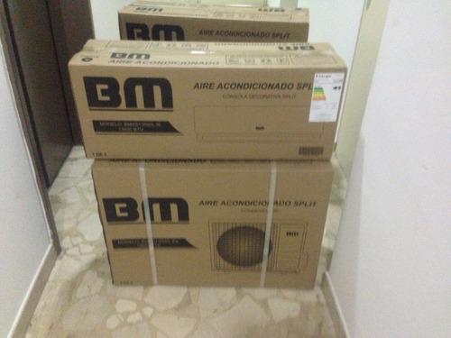 aire acondicionado split 13500btu con consola decorativa bm
