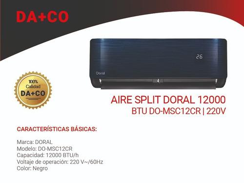 aire acondicionado split doral 12000btu do-msc12cr