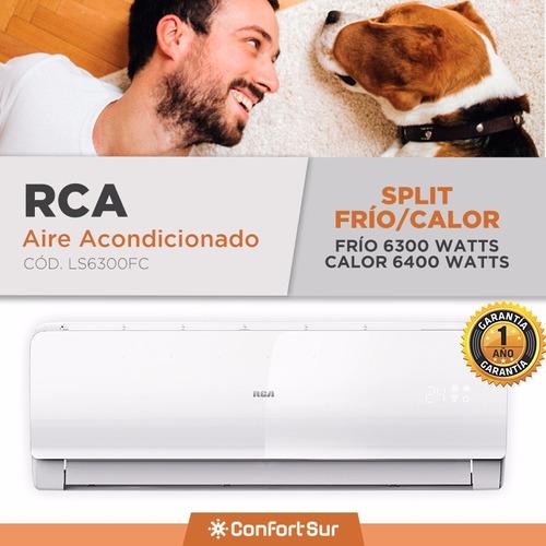 aire acondicionado split f/c rca efic a ls6300 6300w env *10