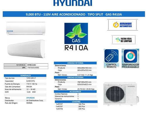 aire acondicionado split hyundai,