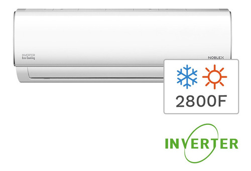 aire acondicionado split inverter frío calor noblex 2800f 33