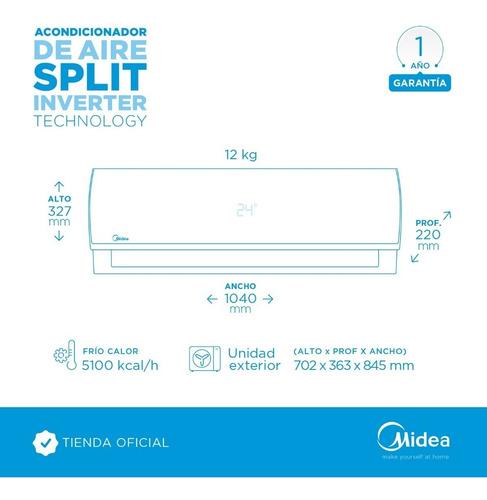 aire acondicionado split inverter midea 5940 w fc